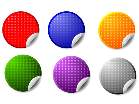 Vector blank stickers Stock Photo - 11942717