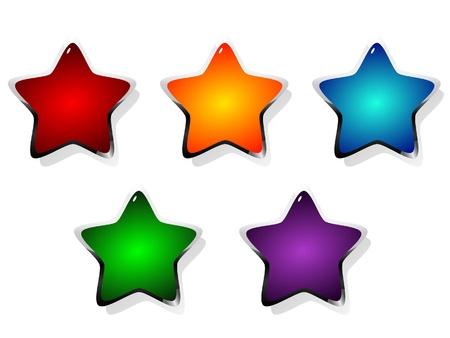 Vector illustration of colored stars illustration