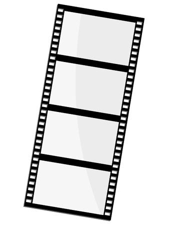 negatives: Vector illustration of film frame