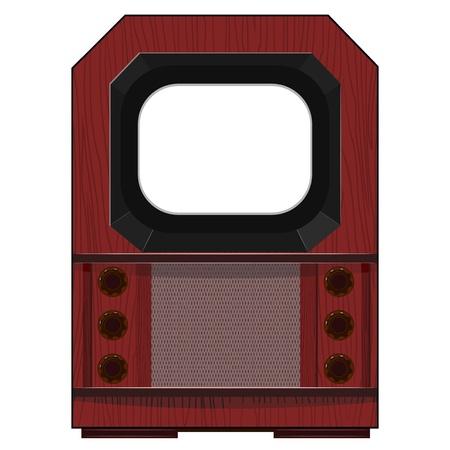Vector artwork old TV Stock Vector - 11943090
