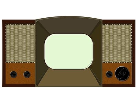 Vector artwork will old TV Stock Vector - 11943083