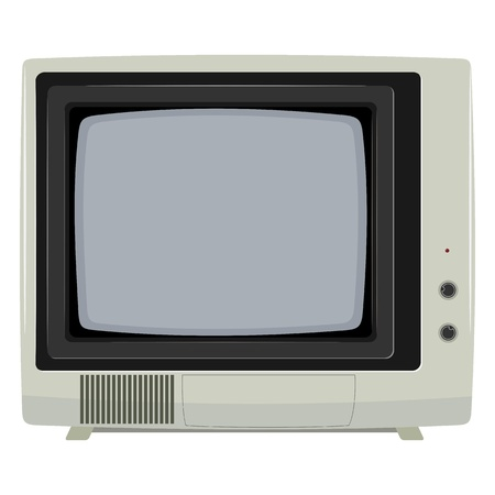 Vector illustration of an old TV set with plastic housing Vector