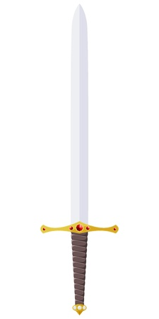 Vector illustration of a sword adorned with jewels Illustration