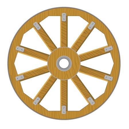 Vector image d'une roue en bois