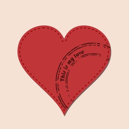 Vector illustratie van hart-en poststempels
