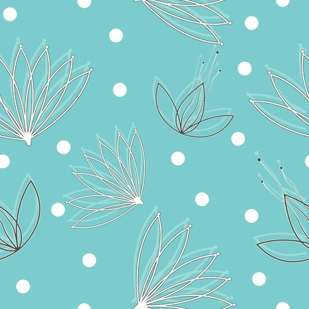 Vector  seamless texture with flowers. EPS10 Vector