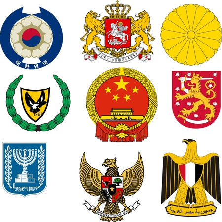 coats: Collection of vector illustrations of coats of arms