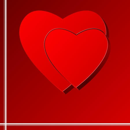 Vector  background with a puzzle at the heart Vector