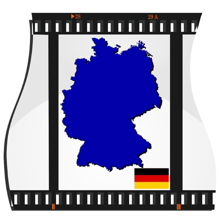 Film shots with a national map of Germany  Vector