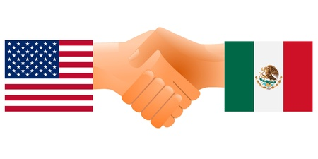 flag mexico: Sign of friendship the United States and Mexico