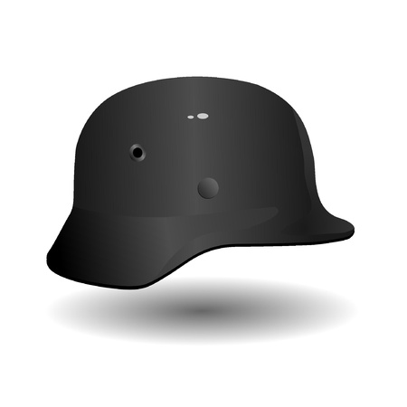 german fascist: Vector German military helmet Illustration