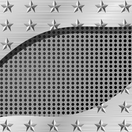 Vector illustration of a metal plate with holes and stars Stock Vector - 11943047
