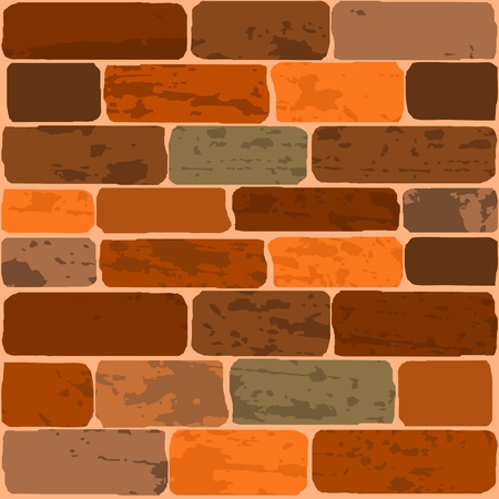 Vector illustration of a brick wall Stock Vector - 11943016