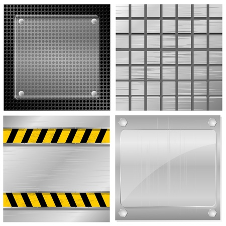 Collection of vector illustrations of metal plates Stock Vector - 11943110