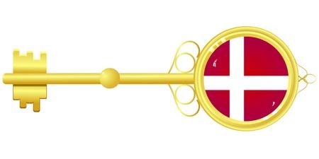 Golden key from Denmark