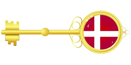 golden key: Golden key from Denmark