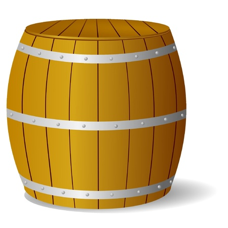 Vector image barrel Vector