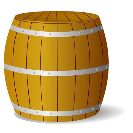 wood barrel: Vector image barrel