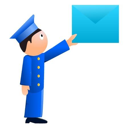 Small postman. vector Vector