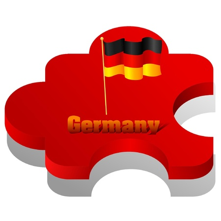 Vector illustration of puzzle with a flag of Germany Vector