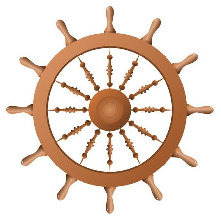 Ship wheel. Vector Vector