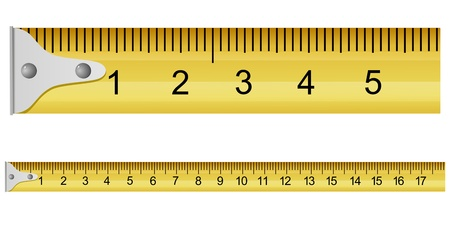 metro medir: Ilustraci�n vectorial de una cinta m�trica