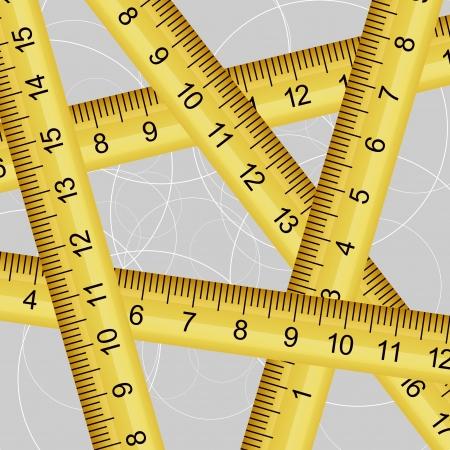 metro de medir: Ilustraci�n vectorial de una textura cinta m�trica