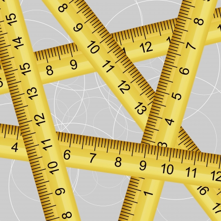 diy tool: Vector illustration of a measuring tape texture Illustration