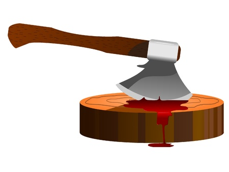 vector illustration of an ax and a slaughterhouse Stock Vector - 11942622