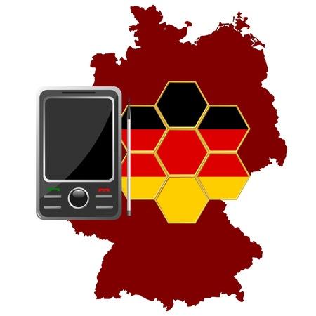 mobile communications: Mobile Communications Germany  Illustration