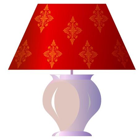Lampe für das Schlafzimmer Vektorgrafik