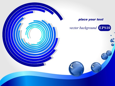 Vector background with water drops and a labyrinth Stock Vector - 11943041