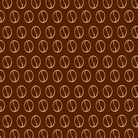 Vector  texture with coffee beans Vector