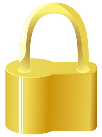 Vector illustration of golden lock Vector