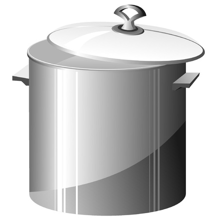lids: Vector illustration of a metal pan Illustration
