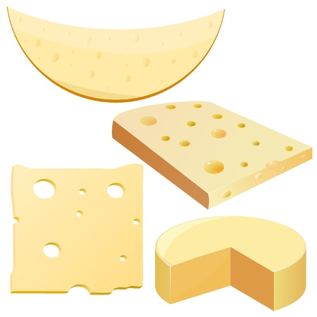 Collection of vector illustrations cheese Stock Vector - 11942689