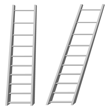 corporate ladder: Vector illustration of ladders