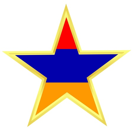 Gold star with a flag of Armenia Stock Vector - 11942528
