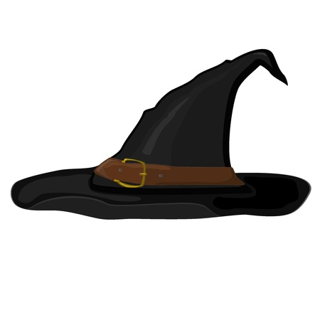 Vector  cartoon witch hat Vector