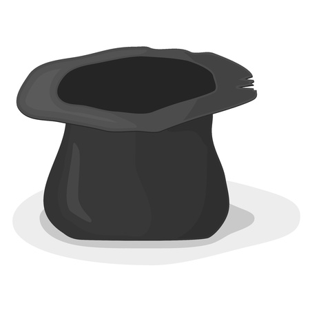 marginalization: Vector illustration of a hat beggar