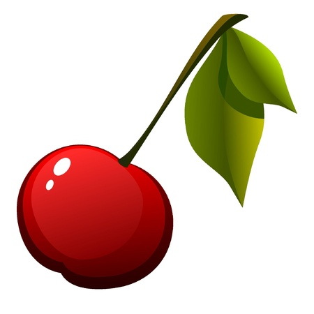 red pill: image cherries with leaves