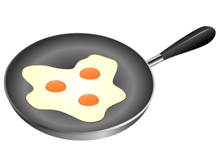Pan fried. vector  Vector