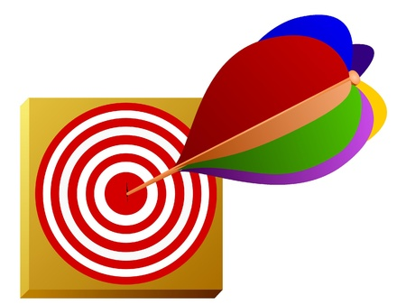 bull     s eye: Vector image of a dart and the target