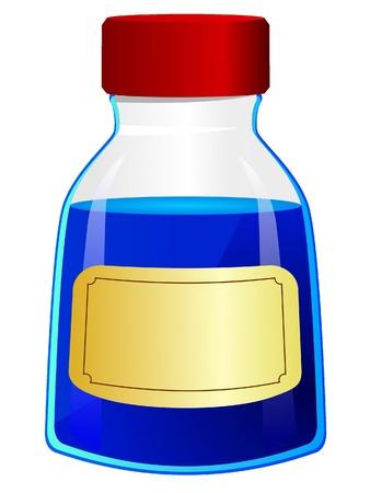 Vector illustration of a bottle of ink  Иллюстрация