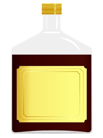 Vector image of a bottle with brown liquid Stock Vector - 12017452