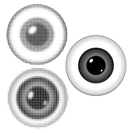 choroid: Vector illustration of stylized eyeball with a pupil