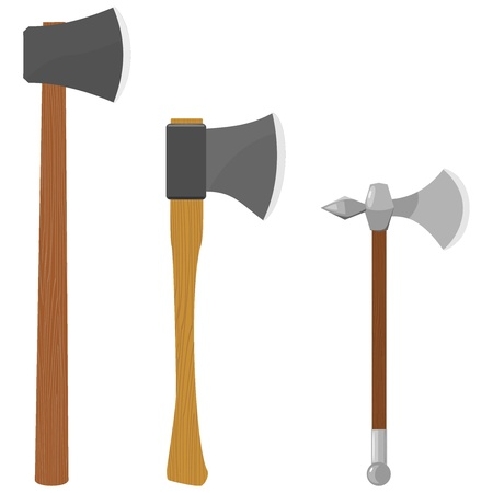 Set of vector illustrations of axes Illustration