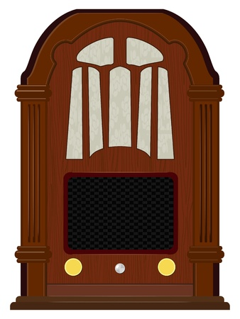 Vector artwork an old radio Stock Vector - 12021517