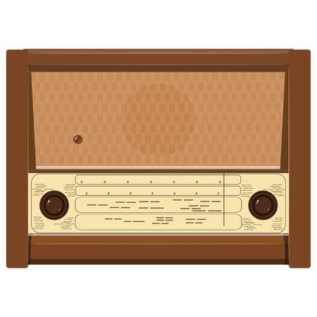 portable radio: Ilustraci�n vectorial de una vieja radio Vectores