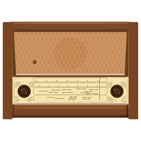 Vector illustration of an old radio Vector